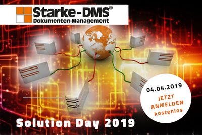 Save the Date Einladung Starke-DMS Solution Day 2019