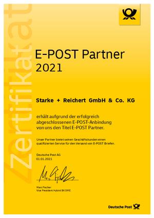 Zertifikat E-Post Partner