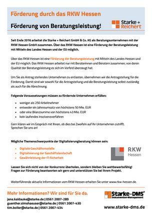 Flyer Förderprogramm RKW Hessen
